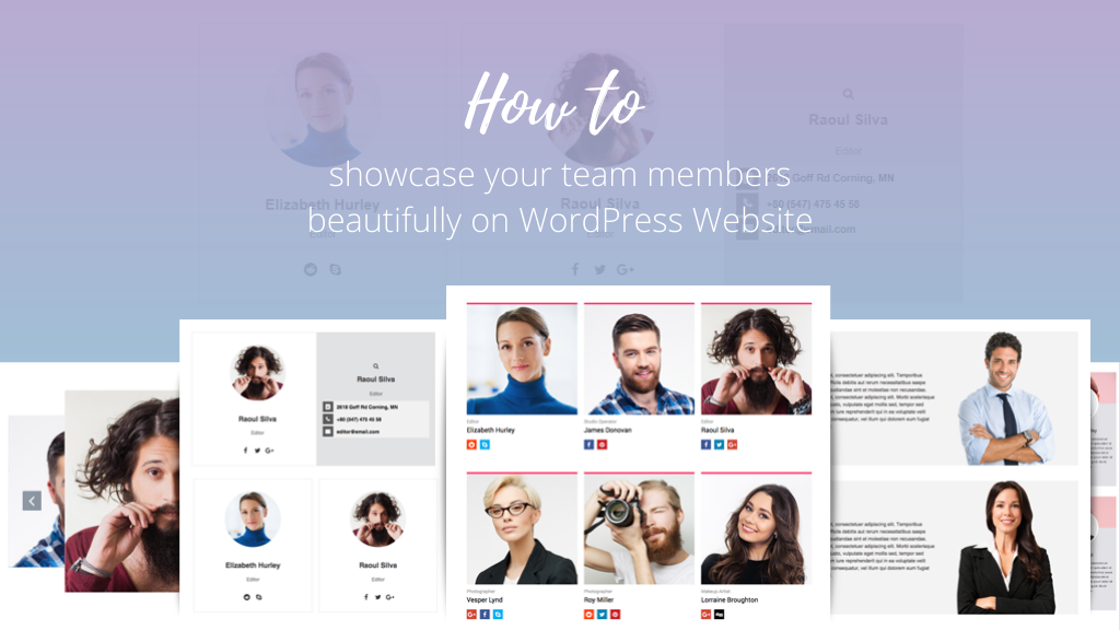 How to showcase your team members beautifully on WordPress Website