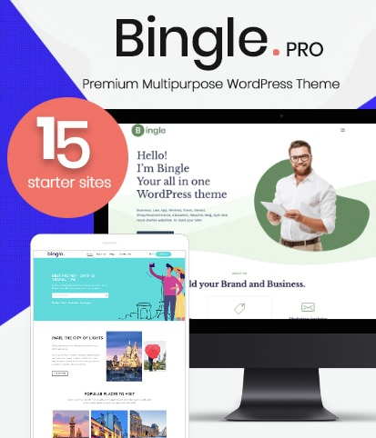 Multi-Purpose Premium WordPress Theme – Bingle Pro