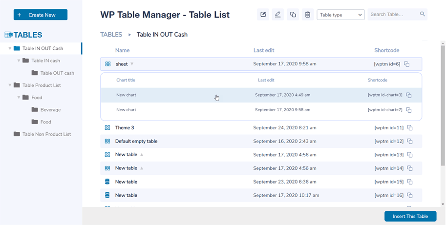 Table-Manager