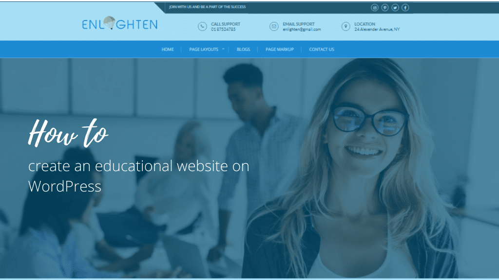 How to create an educational website on WordPress?